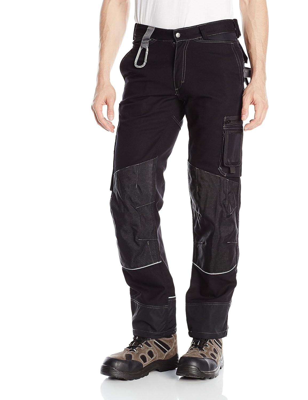 JOBMAN Workwear PANTS メンズ B00J2EDMPU 32W x 34L|ブラック ブラック 32W x 34L