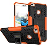 Heartly Xiaomi Mi Max Back Cover Kick Stand Rugged Shockproof Tough Hybrid Armor Dual Layer Bumper Case - Mobile Orange