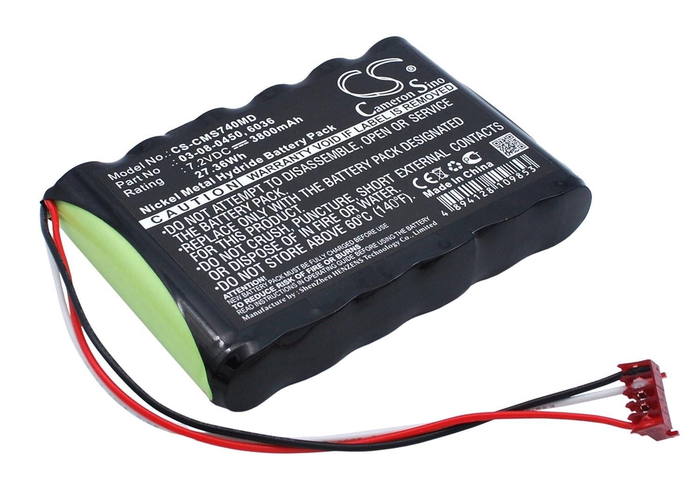 Cameron Sino 3800 mAh / 27.36 WHバッテリーと互換性Cas Medical NIBP 740 , 940 Xモニタ、NIBP 730、NIBP 750モニタ   B01MAV8DG6