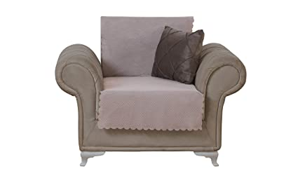 Amazoncom Chiara Rose Diamond Armchair Slipcover 1 Seat Sofa Cover