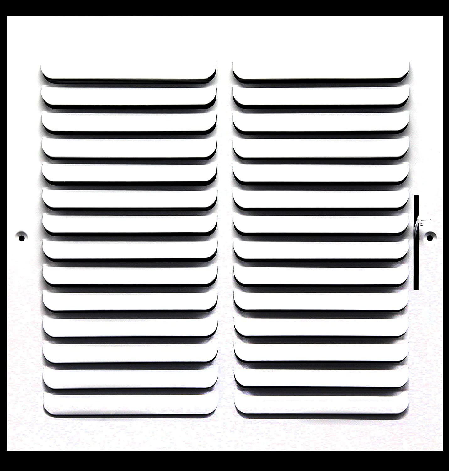 Grille Register Sidewall or Ceiling Vent Duct Cover 6 X 6 1-Way Fixed Curved Blade AIR Supply Diffuser White High Airflow