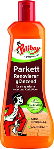 Poliboy Parkett Renovierer Glänzend Für Holz Und Korkböden Sofort Versiegelung Bodenreinigung Einzeln 500ml Made In Germany Küche Haushalt
