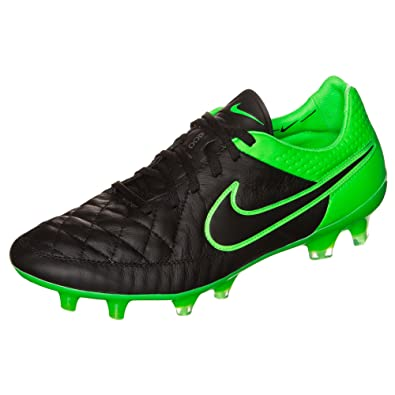 55d370d3e Nike Tiempo Legend V FG Men s Soccer Cleats (Black Black-Grn Strk-