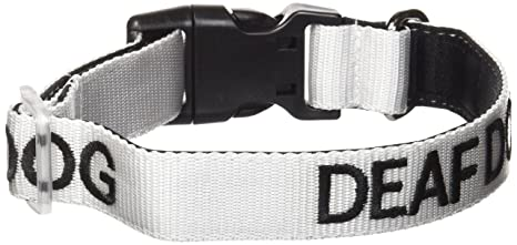 Amazon Com Deaf Dog White Color Coded S M L Xl Buckle Dog