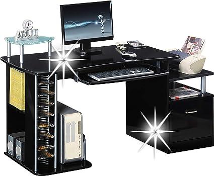 SixBros Scrivania Porta PC Tavolo Ufficio Lucido S-202A//736