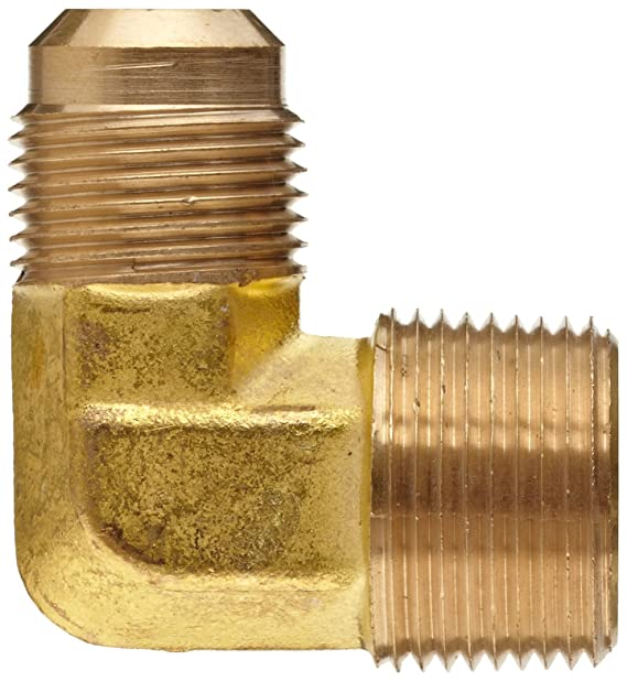 Brass 3//4 Male Flare x 1//2 Male NPTF 1 Midland 10-305LF Lead Free Brass Flare 90/° Angle Male Forged Elbow