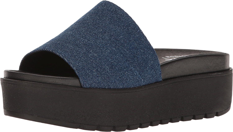 Shellys London Women's Kora Platform Sandal B01LVZ9XRG 39 M EU|Denim Fabric