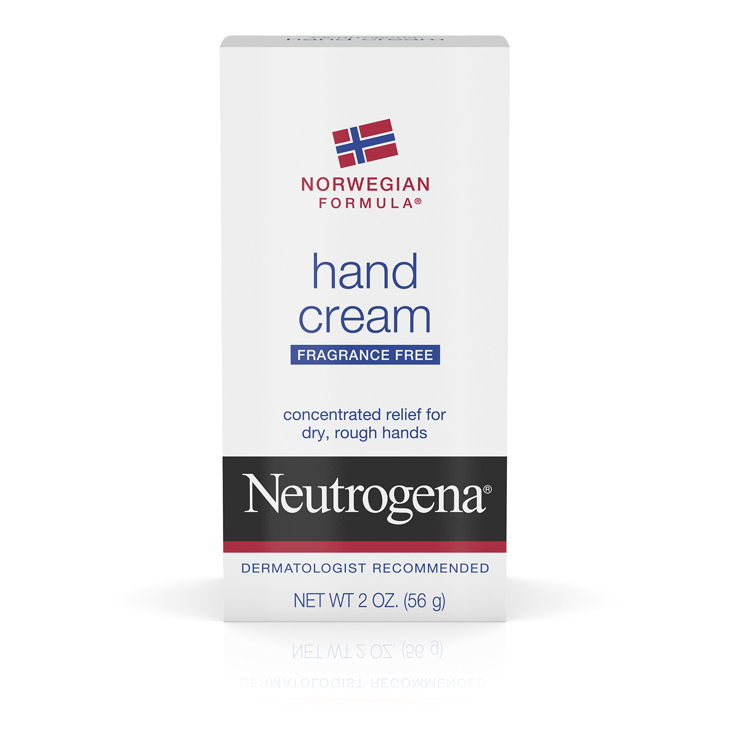 Neutrogena Norwegian Formula Moisturizing Hand Cream Formulated with Glycerin for Dry, Rough Hands, Fragrance-Free Intensive Hand Cream, 2 oz(Pack of 6)