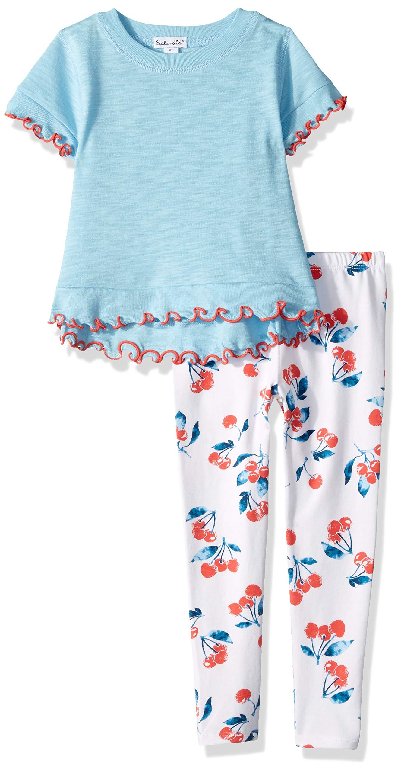 Splendid Girls' Cherry Print Legging Set