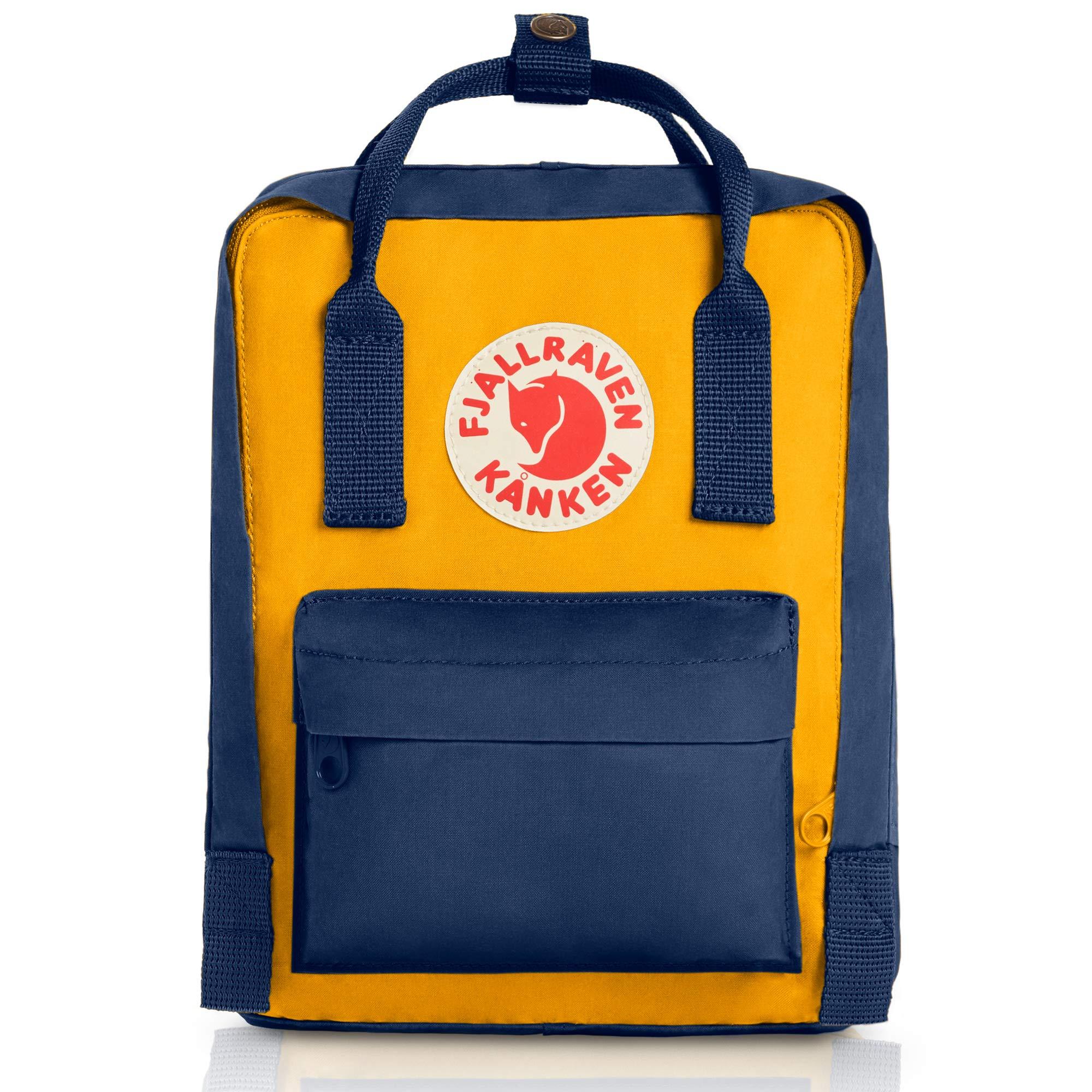 Fjallraven Kanken Mini Daypack, Navy/Warm Yellow