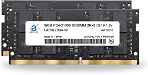"Adamanta 32GB (2x16GB) Memory Upgrade for 2019 Apple iMac 27"" w/Retina 5K Display & 2018 Apple Mac Mini DDR4 2666Mhz PC4-21300 SODIMM 2Rx8 CL19 1.2v DRAM RAM"