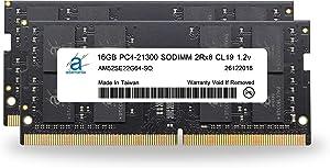 "Adamanta 32GB (2x16GB) Memory Upgrade for 2019 Apple iMac 27"" w/Retina 5K Display & 2018 Apple Mac Mini DDR4 2666Mhz PC4-21300 SODIMM 2Rx8 CL19 1.2v DRAM RAM"