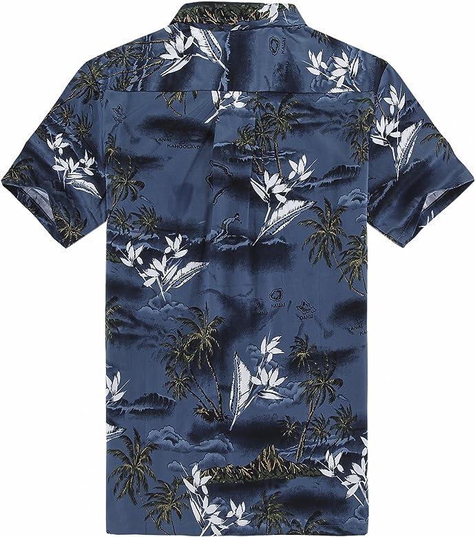 Chico joven adulto Hawaiian Aloha Luau camisa en el mapa azul y surfista, Azul, 10 (S): Amazon.es: Ropa y accesorios