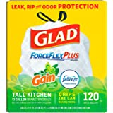 Glad Forceflex Gain Scented Trash Bags, 120 Count