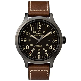 watch men scout expedition free strap leather mens timex watches product s brown jewelry