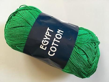 Feza Egipto Algodón – Verde – Hilo de encaje, 100% algodón ...