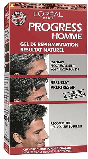 loral paris progress homme gel de repigmentation naturelle coloration cheveux blancs - Gel Colorant Cheveux