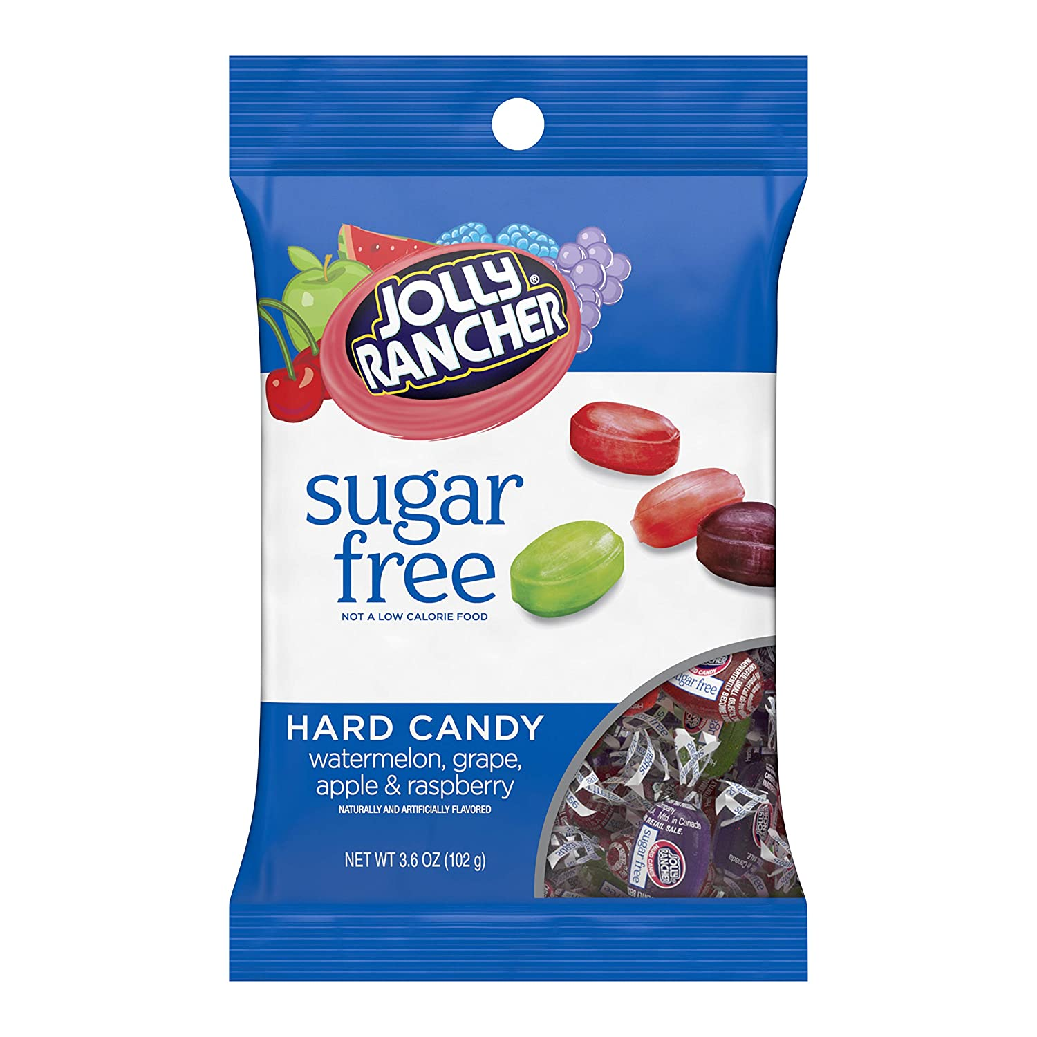 JOLLY RANCHER Sugar Free Hard Candy, 3.6 oz bag, pack of 12