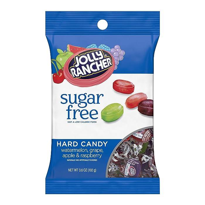 JOLLY RANCHER Sugar Free Hard Candy, 3.6 oz bag, pack of 12