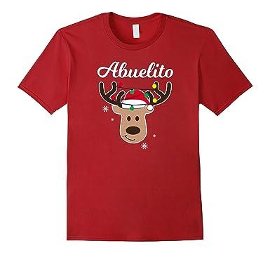 Mens Renos De Navidad Pijamas Navidad Familiar Abuelito Shirt 2XL Cranberry