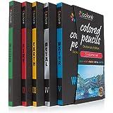 Colore - Crayons d'Édition dictionnaire - Ensemble de 60 crayons de couleur Prime Pré-taillés pour dessiner des pages à colorier - Un super équipement d'art scolaire pour enfants et adultes - Livres à colorier - 60 couleurs vibrantes