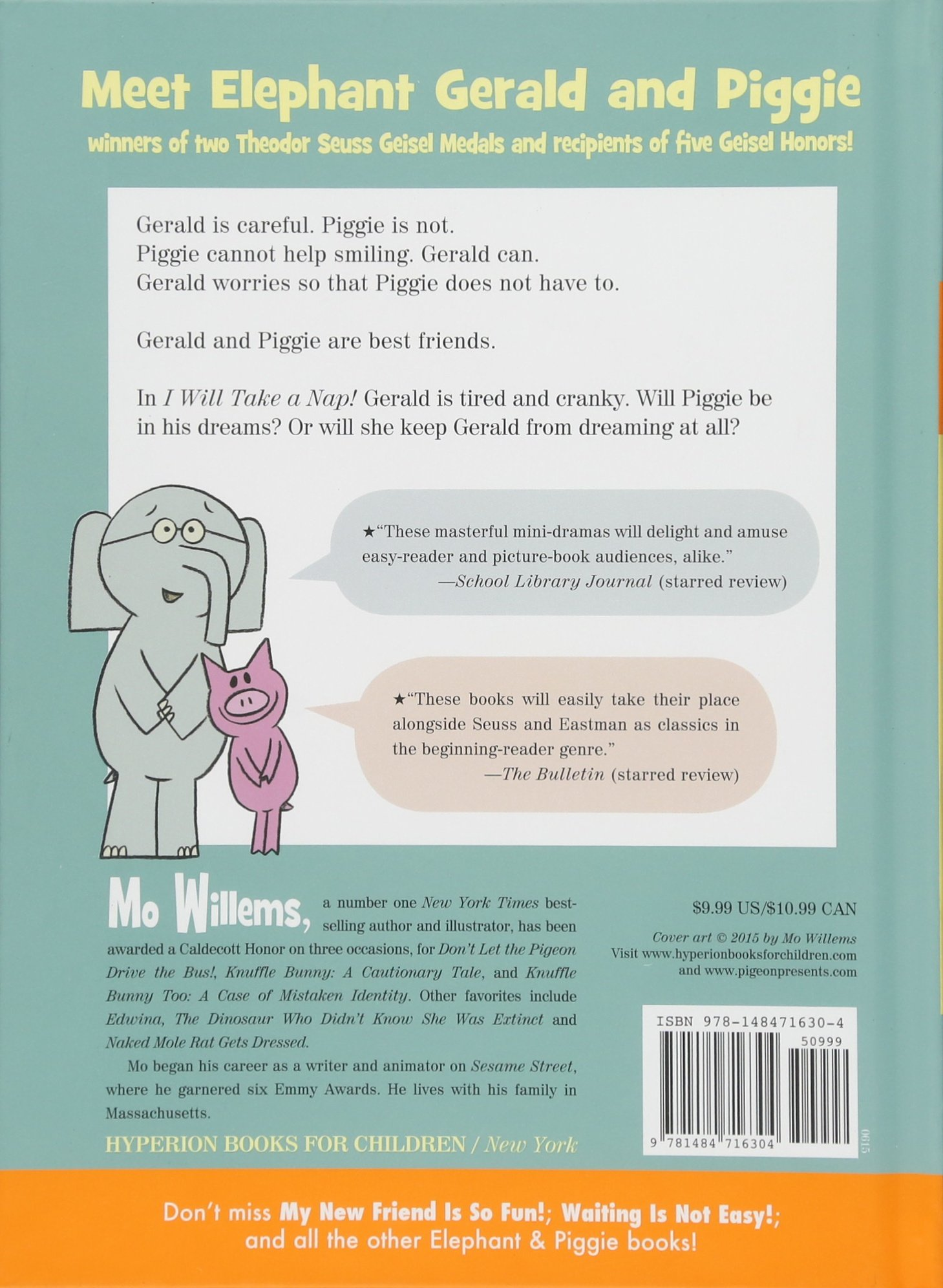 An Elephant and Piggie Book I Will Take A Nap!