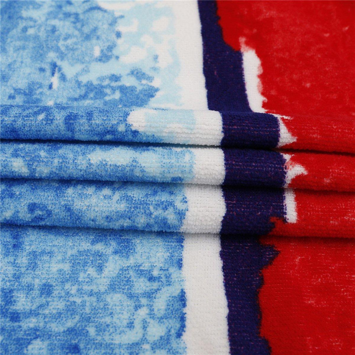 Tie Dye Large Circular Terry Roundie Circle Tassel Genovega Thick Round Beach Towel Blanket