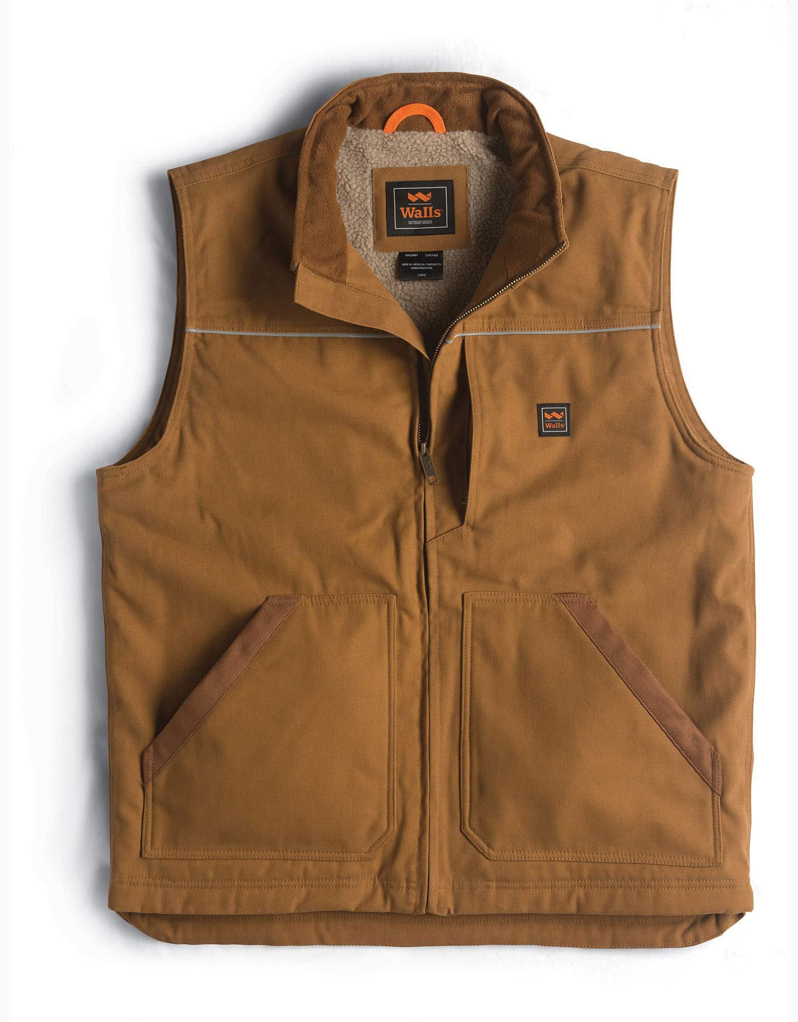 Walls Men's Super Duck Lined Vest, Pecan, Large by Walls