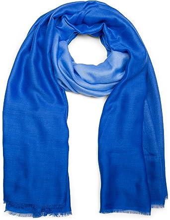 e973b2f0231b styleBREAKER Foulard uni avec dégradé clair-sombre et franges, écharpes,  femmes 01016149,