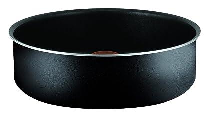 Tefal Ingenio Essential Sartén Honda con Mango Extraíble, Revestimiento Antiadherente, Negro, 24 Cm, 1 Unidad