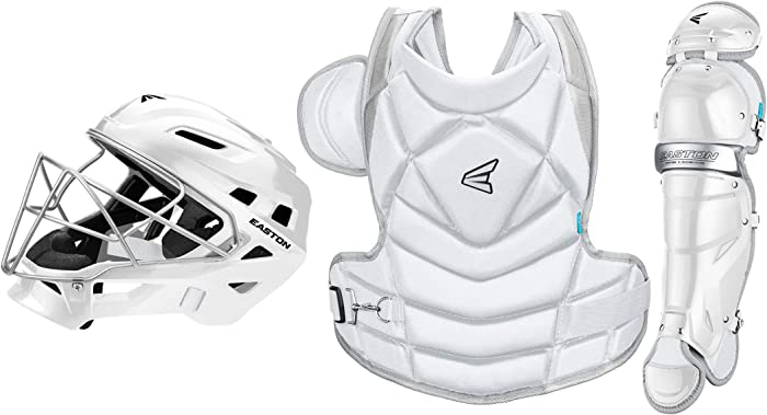 EASTON THE FUNDAMENTAL BY JEN SCHRO Female Catchers Protective Box Set   2020   Streamlined Helmet+Steel Cage   Chest Protector - Breathable & Lightweight   Leg Guards - Extra Inner Knee Foam