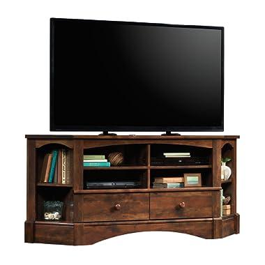 Sauder 420471 Harbor View Corner Entertainment Credenza, For TV's up to 60 , Curado Cherry finish