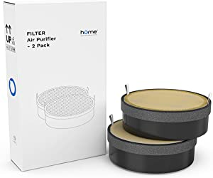 hOmeLabs True HEPA H13 Air Purifier Replacement Filter - Fits HME020248N - Lasts for 90 Days or 3 Months Equivalent to 2,100 Hours - 2 Packs