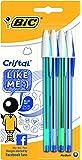 BIC Cristal Like Me - Estuche de 4 bolígrafos, color azul