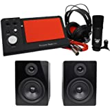 Focusrite iTrack Dock Studio Pack Recording Interface+Mic+Headphones+2) Monitors