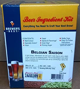 Home Brew Ohio - HOZQ8-1071 Best One gal Beer Ingredient Kit (Belgian Saison)