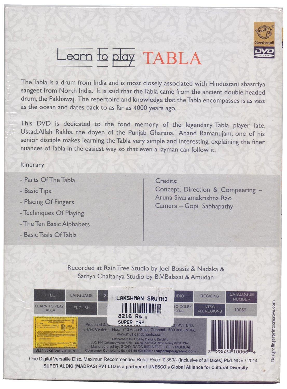 Buy Geethanjali Learn to Play Tabla (DVD) (Language