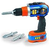 Smoby Bob el Constructor taladro atornillador eléctrico mecánicamente niños de juguete