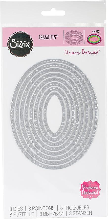Dotted~ Die Set Stephanie Barnard Framelits Die Set by Sizzix 661841 ~Squares