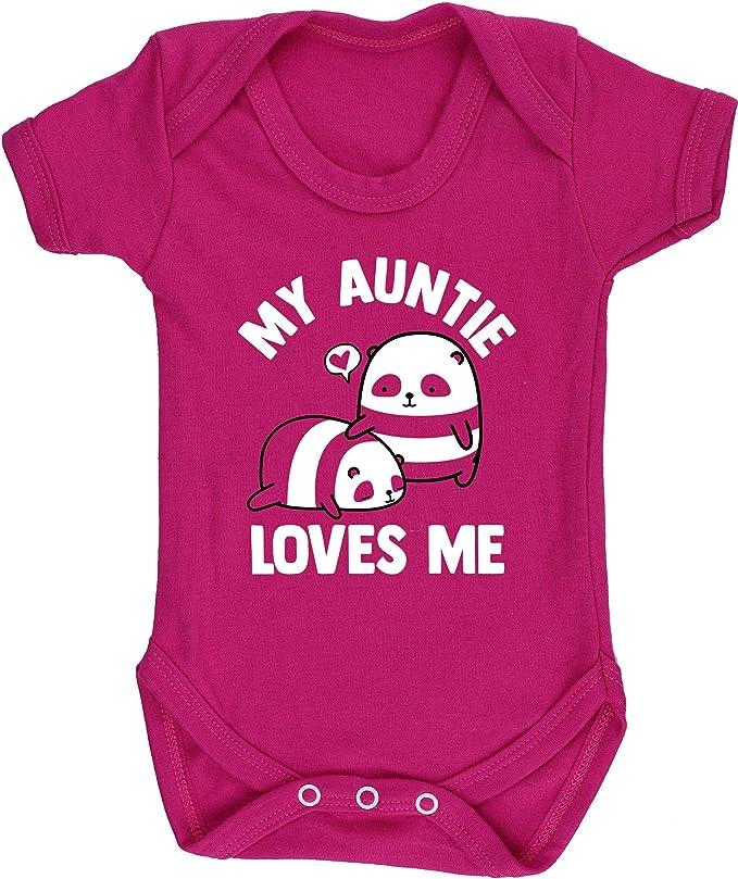 Long Sleeve Hippowarehouse My Auntie Loves Me Panda Baby Vest Bodysuit Boys Girls