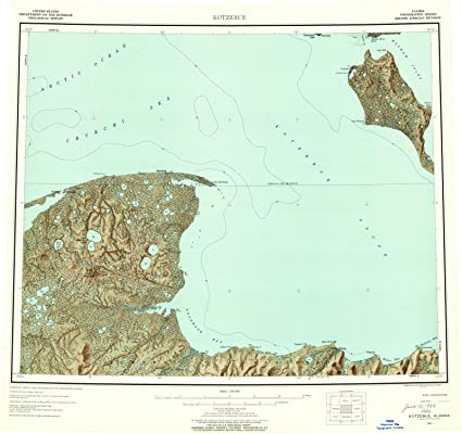Amazon.com: Alaska Maps   1951 Kotzebue, AK USGS Historical ...