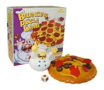 Little Treasures Balancing Pile Up Game, Add Toppings on the Pizza But Don't