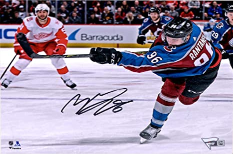 e29e81fbf Image Unavailable. Image not available for. Color  Mikko Rantanen Colorado  Avalanche Autographed 8 quot  x 10 quot  Maroon Jersey Shooting Photograph  ...