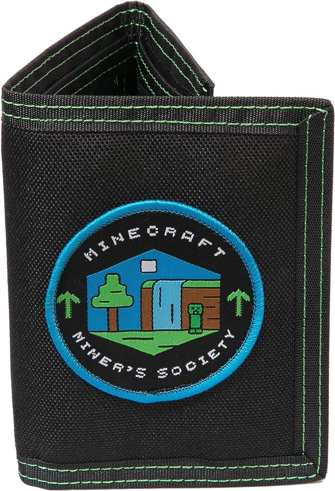 Color Verde JINX Minecraft Creeper Cartera de Tres Pliegues