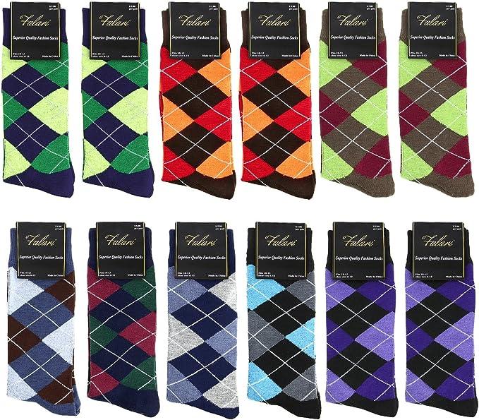 Fashion Casual Dress Socks Mens Cotton Socks Warm Colorful Diamond One Size