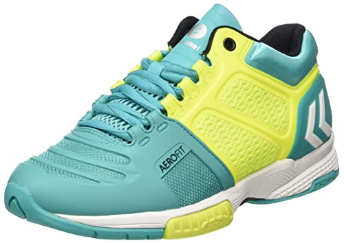Unisex Adults Aerocharge Hb 220 Trophy Fitness Shoes, Vert/Jaune/Blanc, 6.5 Hummel