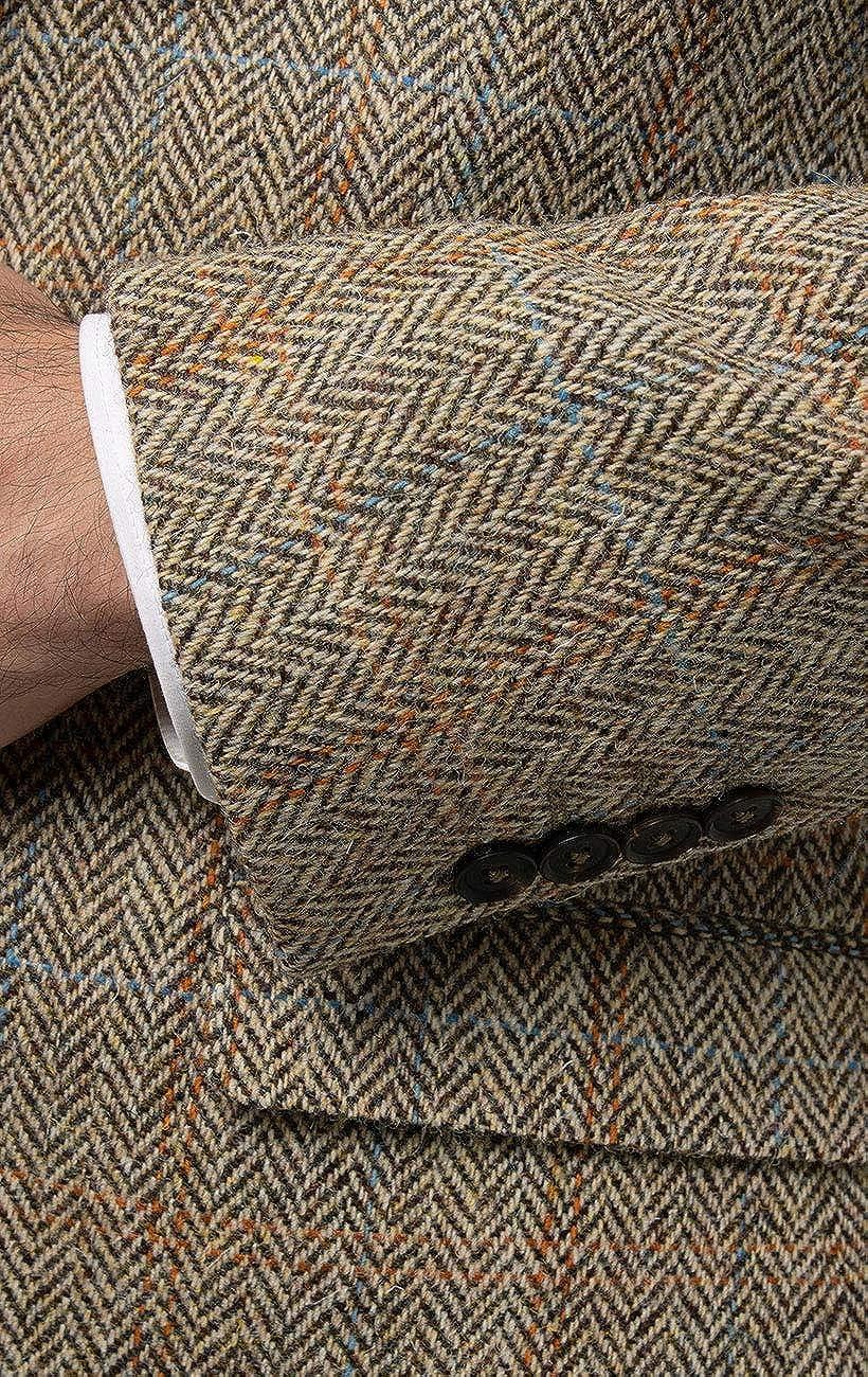 Dobell Harris Tweed Herren Jackett Braun Gro/ßes Karo