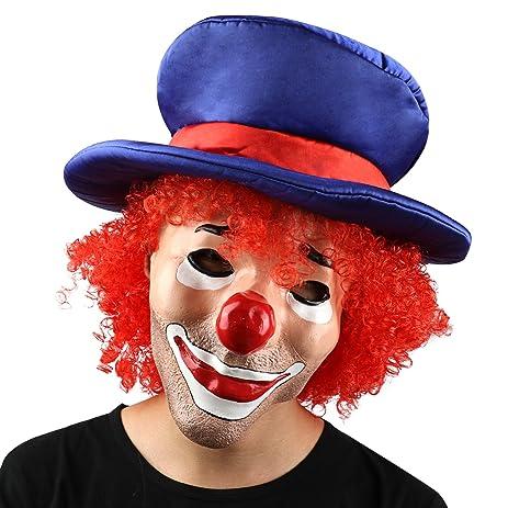 Amazon.com: Monstleo Halloween Scary Clown Mask For Adults Costume ...