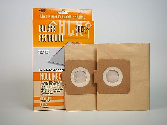 Sanfor MO14 Bolsa Aspirador MOULINEX R-MO14 Caja 2 Unidades MARR/ÓN Papel ecol/ógico de Doble Capa