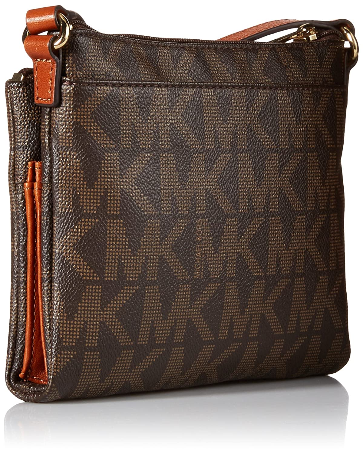 15284f4cd6ef ... Leather Michael Kors Fulton Large Crossbody MK Signature PVC Brown  Handbags Amazon .com ...